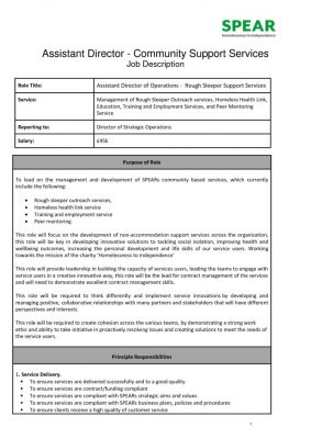 thumbnail of Assistant Director of Operations – Homelessness Community Based Services